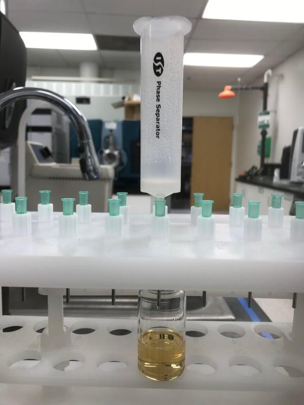 Hipp acid + aniline RxN in EtOAc EtOAc mother liquir extract
