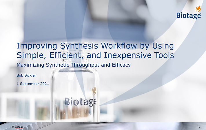 Improving Synthesis Workflow Slide Cover
