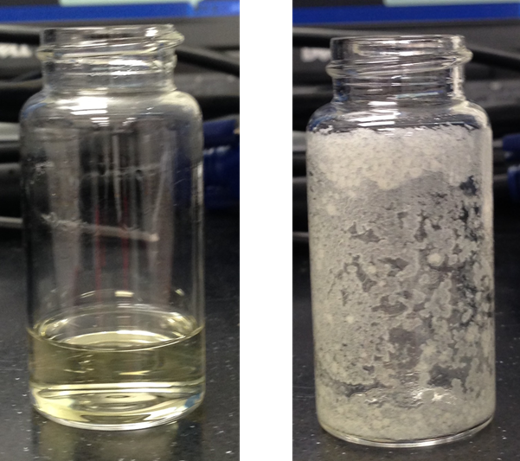 crude peptide before and after v10