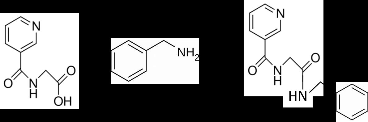 Nicotinuric acid + benzyl amine RxN.jpg